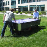 air hockey at sunnyvale company picnic
