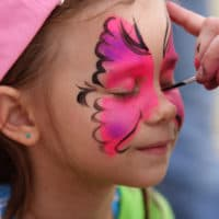 Face Painting at picnic
