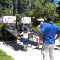 double shot basketball picnic game