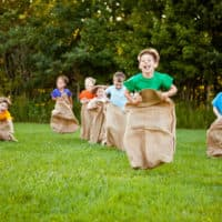 sack race picnic game